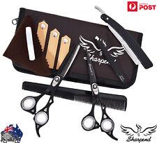 Professional 6.5 Barber Hairdressing Scissor Thinning & Hair Cutting Set black