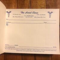 1940's Authentic Antique Doctors Full Prescription Pad Oddities Medical Book