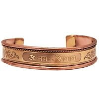 Elegant Om Namah Shivaya Copper Bracelet For Men Pain Relief For Arthritis