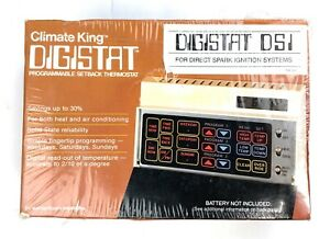 Climate King Digistat DSI Programmable Setback Themostat, White / Black -NOS VTG