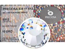 1440 Preciosa Genuine Czech Crystals 12ss clear Crystal Viva Flatbacks, 3mm ss12