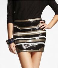 Express Fashion Art Deco Sequin Mini Skirt XS
