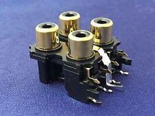 2 x 2 Gold Phono/RCA PCB mounted sockets YKC21-3269N