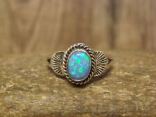 Native American Jewelry Sterling Silver Opal Ring! Size 9
