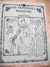 Vtg Paper Dolls 1934 Wedding Charles Ventura Signed 10 Dolls Lots Of Outfits!