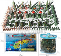 158 pcs Military Playset Plastic Toy Soldier Army Men 5cm Figures & Accessories