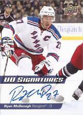 RYAN MCDONAGH 2014-15 Upper Deck UD Signatures Autograph New York Rangers