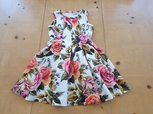 Monnalisa Designer Girl's Floral Party Occasion Dress Size 8 - 9 Years