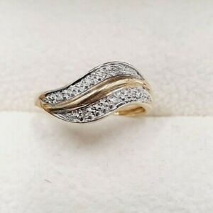9ct Gold Diamond Ring - Size K - Fancy - CLEARANCE STOCK
