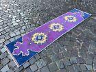 Handmade wool rug, Bohemian rug, Runner rug, Turkish rug | 1,8 x 7,2 ft