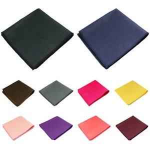 Men High Quality Cotton Solid Pocket Square Wedding Party Handkerchief Hanky