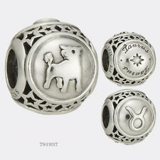 Authentic Pandora Sterling Silver Taurus Star Sign Charm # 791937