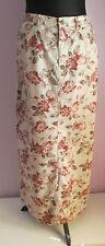 VTG Ladies EDDIE BAUER Beige Floral Thick Cotton Western Split Skirt Size 10-12