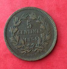 Luxembourg - Très Jolie monnaie de  5 Centimes 1854