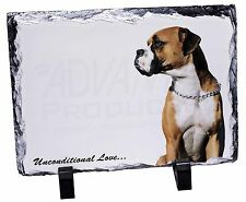 Boxer Dog With Love Photo Slate Christmas Gift Ornament Ad-b21usl