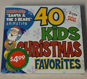 40 KIDS CHRISTMAS FAVORITES - 40 Kids Christmas Favorites 3 Disc NEW SEALED NOS
