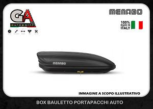BOX BAULE TETTO AUTO MENABO DARK NERO OPACO MARATHON 400 LT 165X79X37 UNIVERSALE