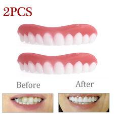2PACK Cosmetic Teeth Snap On Small  Smile Secure Veneers False Dental Natural