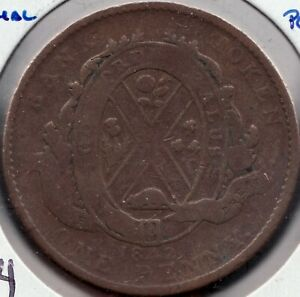 1842 - Prov. of Canada - Bank of Montreal - 1 Penny - Superfleas - PC-2B - Lg 4