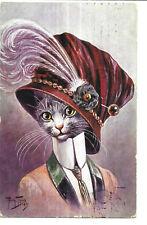 Arthur Thiele - Anthropomorphic Cat in Fine Hat and Collar