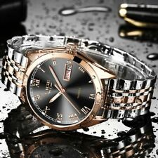2020New LIGE Watches Men Top Brand Fashion Chronograph Male Stainless Steel
