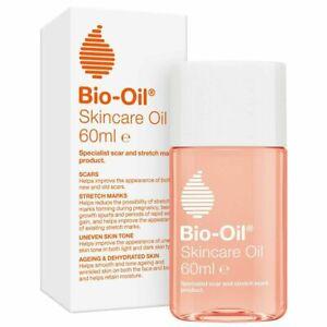 Bio-Oil Skincare Oil 60ML - For Scars Stretch Marks Uneven Skin Tone, New