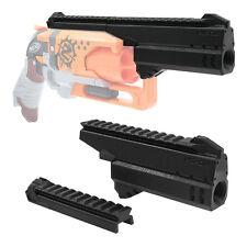 MaLiang 3D Print Handgun Barrel Top Rail Black for Nerf Hammer Shot Modify Toy