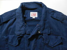 Lacoste Live L!ve Military M65 Vintage Washed Jacket Dark Blue 48 3 XS XSmall