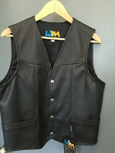 Cowhide Leather Motorcycle Vests size 44/112cm