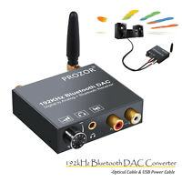 Audio Converter Bluetooth DAC Digital Optical Coaxial Toslink to Analog RCA