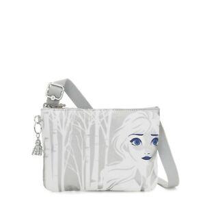 Kipling Disney Frozen 2 Elsa Blue and White Raina Crossbody Bag Adjustable Strap