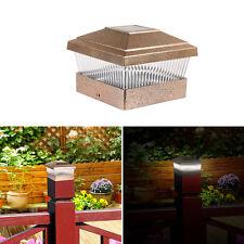 4 8 18 Outdoor Garden Solar LED Post Deck Cap Square Fence Light Landscape Lamp