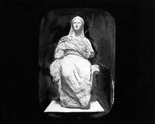 PHOTO ON GLASS MARBLE STATUE DEMETER KNIDOS