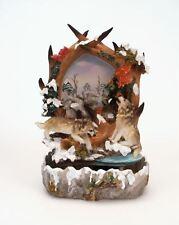 Brunnen mit Wölfen Zimmerbrunnen Wasserbrunnen Wasser Wolf Tiere Deko 34x22cm