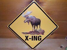 MOOSEHEAD X-ING EMBOSSED COLLECTOR PUB BAR BEER METAL SIGN NEW