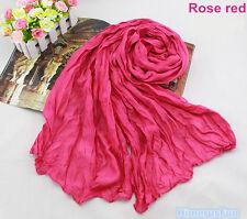 Candy Color Women Girls Long Soft Silk Chiffon Scarf Wrap Shawl Pashmina Scarves
