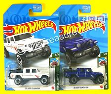 Hot Wheels 2021 - Lot of 2 - '20 JEEP GLADIATOR - WHITE DG Exclusive & Blue E186