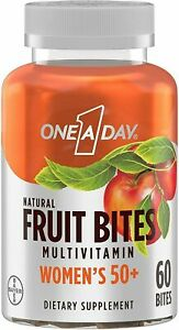One A Day Natural Fruit Bites Women's 50+ Multivitamin, Immune Health, 60 Bites