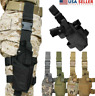 USA Adjustable Tactical Pistol/Gun Drop Leg Thigh Holster Mag Pouch Right Hand