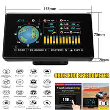 Car Truck OBD2 HUD Head-up Speedometer Altitude Compass Level Slope Balancer GPS