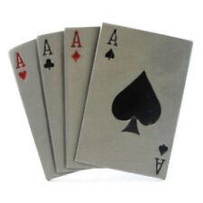 FOUR ACES BELT BUCKLE ACE SPADES HEARTS POKER GAMBLER BIKER LUCKY FIT SNAP BELT