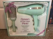 """BaByliss Pro 'Green is the new Pink' Ionic Dryer with 1 3/4"""" Thermal Brush. New."""