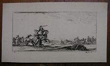 STEFANO DELLA BELLA ´REITERSCHARMÜTZEL; BATTLE, DEAD SOLDIER´ DE VESME 251, 1644