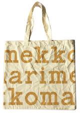 "New MARIMEKKO Logo Tote Bag, Warm Gold on Natural/ Off-White, 17.25"" H x 18.25""W"