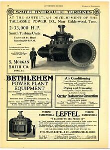 1928 S. Morgan Smith Ad: Turbine for Tallahassee Power Co. Calderwood Tennessee