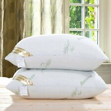 2 Pack Cool Comfortable Hotel Polyester Bamboo Bed Sleeping Pillows Queen Size
