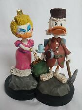 DON ROSA ONKEL DAGOBERT & NELLY- SCROOGE &  GOLDIE - statuette limited & signed