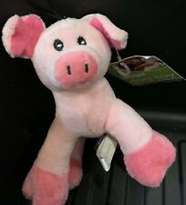 NWT Dog Toy Mini Plush Cuddlers Pink Pig Squeaks 6""