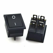 2Pcs Rocker Switch Black SPST ON-OFF 4 PIN 15A/250VAC 20A/125VAC KCD4