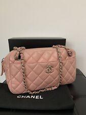 Guaranteed Genuine Chanel Camera Handbag Lambskin Silver Hardware.